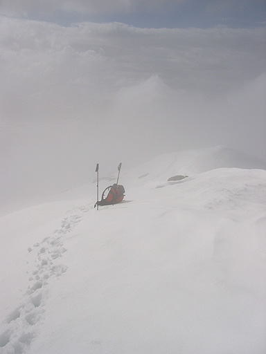Alps 2008 - Left my pack 10m from the summit
