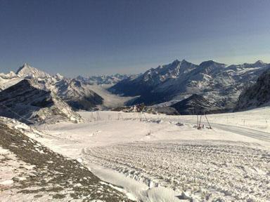 Alps 2008 - Looking down towards Zermatt