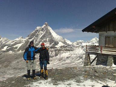 Alps 2008 - Tomas and Per in front of Matterhorn