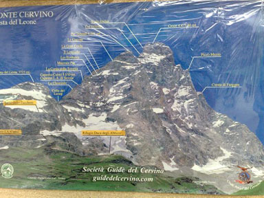Alps 2008 - Liongrat map