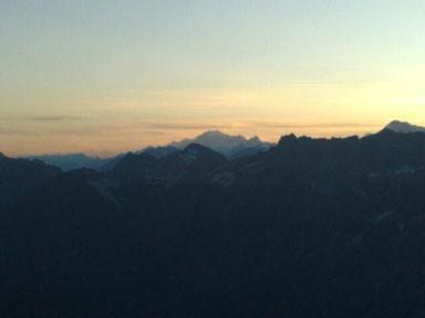 Alps 2008 - Mont Blanc at dusk