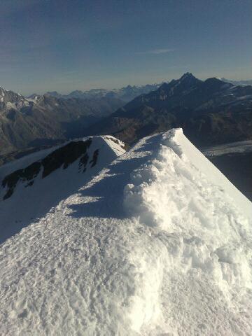 Alps 2008 - Castor summit ridge