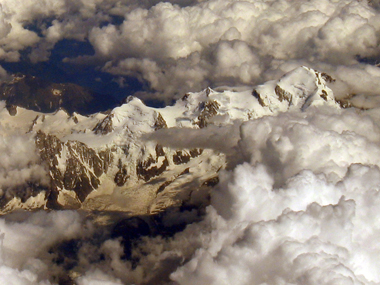 Mont Blanc from above. Photo by Jonna Jerberyd