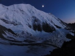 2011-08 Mont Blanc - The first nightfall in Tete Rousse with high winds howling from above