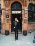 London 2011 - Jonna in front of the pub she used to work in