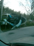 The Storm - Blown away trampoline