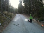 The Storm - Rasmus and I cleared the road