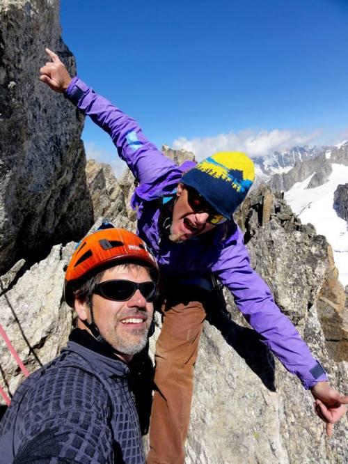 Per and Krister @ Aiguille d'Entrèves