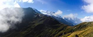 Autumn view of the Mont Blanc range